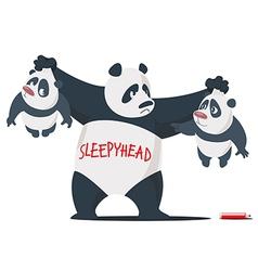Three Panda brothers vector image