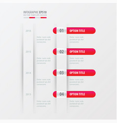 timeline design pink gradient color vector image