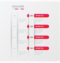 timeline design pink gradient color vector image