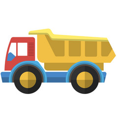 Toy truck icon isolated on white background vector