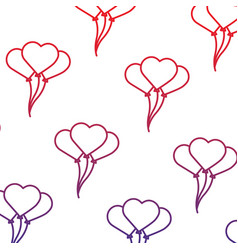 valentines balloons decoration hearts seamless vector image