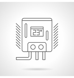 Water heater flat line icon vector