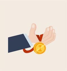 Winners hand vector