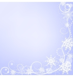 Winter greeting card with snowflakes vector
