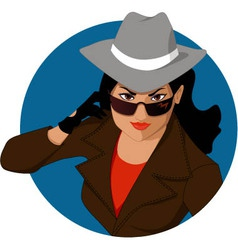 Woman of mystery vector