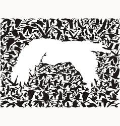 Backgrounds of flying birds bird predator vector image vector image