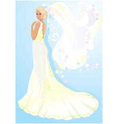 Beautiful young bride vector image