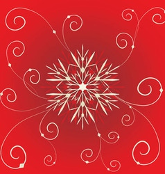 floral christmas vector image vector image