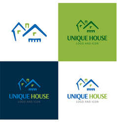 Houses and roofs logo and icon vector