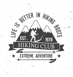 life is better in hiking boots vector image vector image