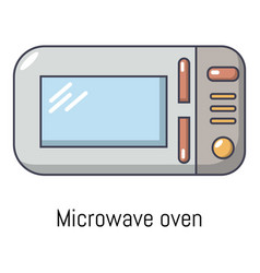 microwave icon cartoon style vector image