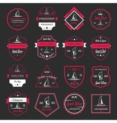 Set Catamaran Logos and Badges vector image vector image
