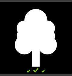 tree it is white icon vector image vector image