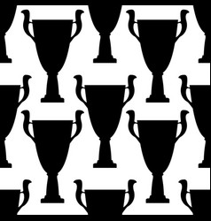 winner trophy cup seamless pattern vector image