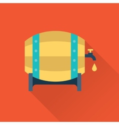 wooden beer jar icon vector image vector image