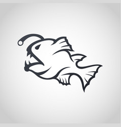 anglerfish logo icon design vector image vector image