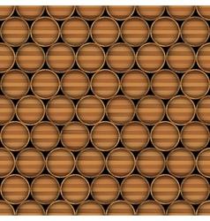 Wooden barrels vector image vector image