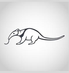 anteater logo icon design vector image vector image
