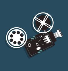 cinema camera film projector icon vector image