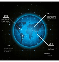 earth from space vector image vector image