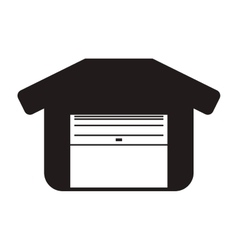 Garage icon Repair and home design vector image