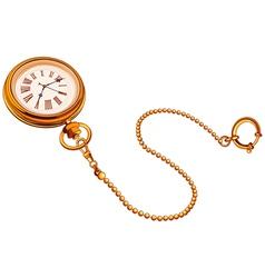 Gold Pocket watch vector image vector image