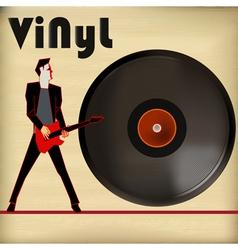 Guitar Vinyl vector image