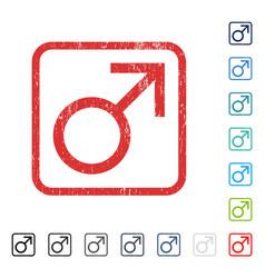 mars male symbol icon rubber watermark vector image
