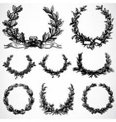 peace wreaths vector image