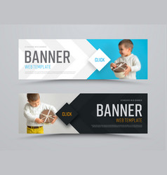 templates of black and white horizontal web vector image
