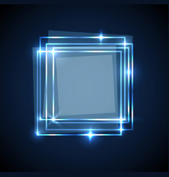 abstract background with blue squares banner vector image vector image
