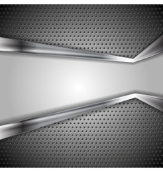 Abstract perforated metal background vector image vector image