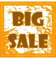 Big sale poster vector image vector image