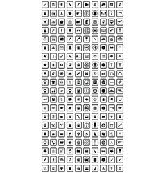 big set of 200 universal icon vector image