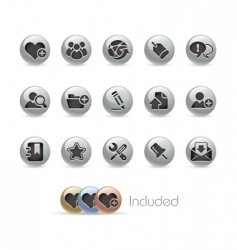 blog and internet icons vector image