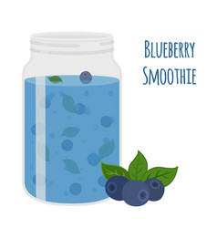 blueberry smoothie vegetarian organic detox drink vector image vector image