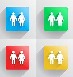 Man and woman symbol vector image vector image