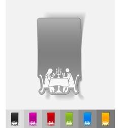 Realistic design element people in the restaurant vector