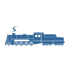 Steam locomotive with tender vector image vector image