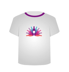 T Shirt Template- wine vector image vector image