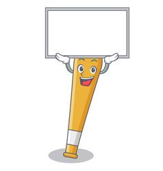 up board baseball bat character cartoon vector image