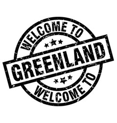 welcome to greenland black stamp vector image vector image