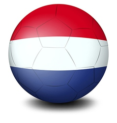 A soccer ball designed with the flag of the vector image