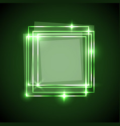 Abstract background with green squares banner vector
