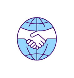 Agreement rgb color icon vector
