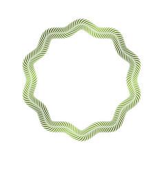 Award vintage geometric frame with clear copy vector