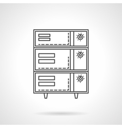 Bakery oven with switches flat line icon vector image