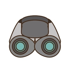 Binoculars explorer glasses spyglass vector