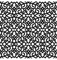 Black and white swirls pattern vector