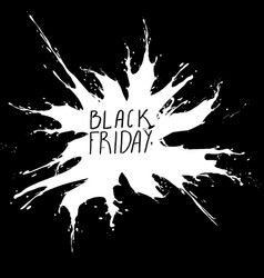 black friday big sale white ink splach vector image